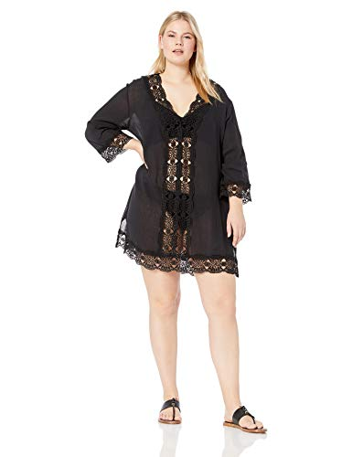 La Blanca Women's Lace V-Neck Tunic Dress