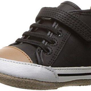 Robeez Boys' Brandon High Top Sneaker, Black