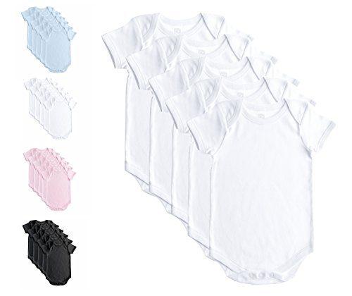 Baby Jay Soft Cotton Onesies, Short Sleeve Lap Shoulder Bodysuit