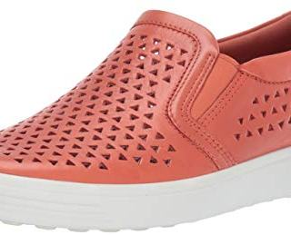 ECCO Women's Women's Soft 7 Slip-on Sneaker, Apricot Laser Cut