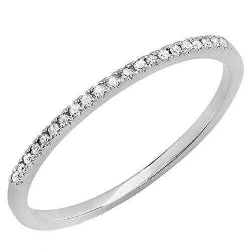 Dazzlingrock Collection 0.08 Carat (ctw) 10K Round White Diamond