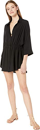 LSpace Women's Threads Pacifica Button Down Tunic Swim Cover Up