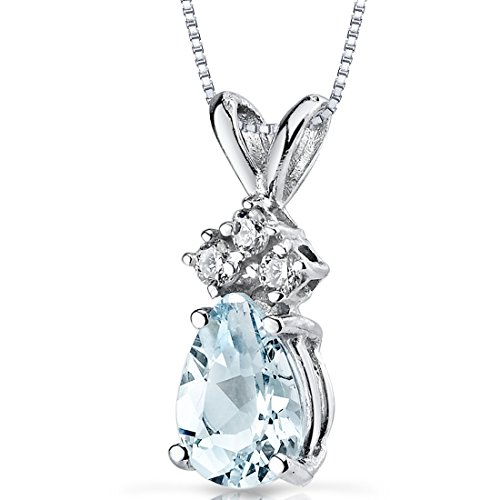 14 Karat White Gold Pear Shape 0.50 Carats Aquamarine