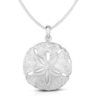 Unique Royal Jewelry Solid Sterling Silver Two Sides Raised Sand