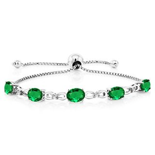 Gem Stone King Sterling Silver Adjustable Diamond Tennis Bracelet