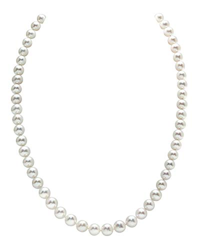 THE PEARL SOURCE 14K Gold 6.0-6.5mm AAAA Quality White Freshwater