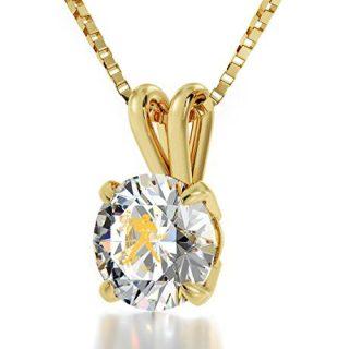 Nano Jewelry Gold Plated Zodiac Pendant Aquarius Necklace