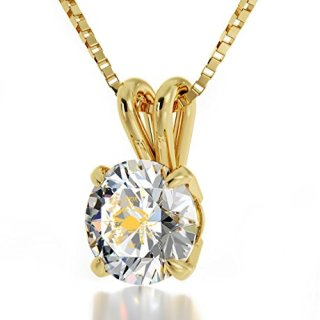 Nano Jewelry 14k Yellow Gold Zodiac Pendant Cancer Necklace