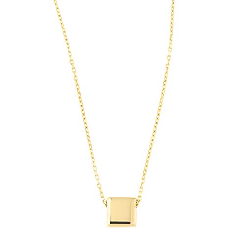 Beauniq 14k Yellow Gold Small Moving Square