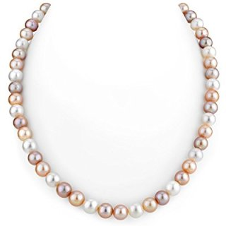 THE PEARL SOURCE 14K Gold 7-8mm AAA Quality Multicolor Freshwater