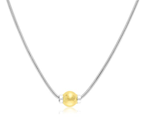 Solid Sterling Silver And 14K Gold Ball CAPE COD BEACH Designer