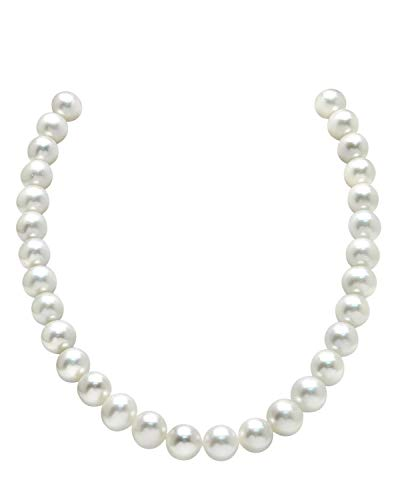 THE PEARL SOURCE 14K Gold 7-8mm AAAA Quality White Freshwater