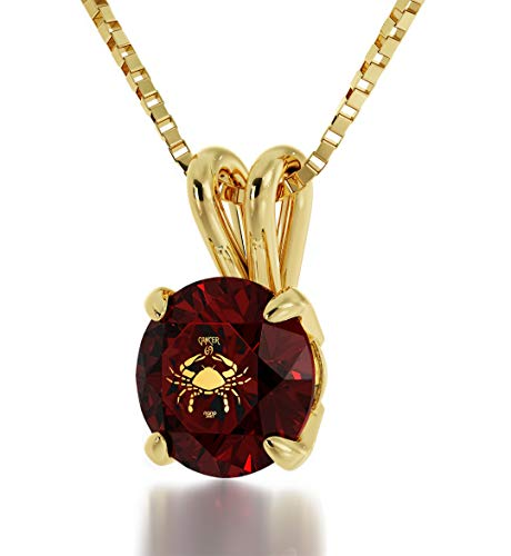 Nano Jewelry Gold Plated Zodiac Pendant Cancer Necklace