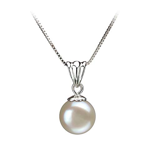 Nancy White 9-10mm AA Quality Freshwater Sterling Silver Cultured Pearl Pendant