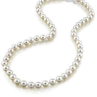 THE PEARL SOURCE 14K Gold 6.0-6.5mm AAA Quality Round Genuine White