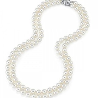 THE PEARL SOURCE 14K Gold 7-8mm AAA Quality Double Strand