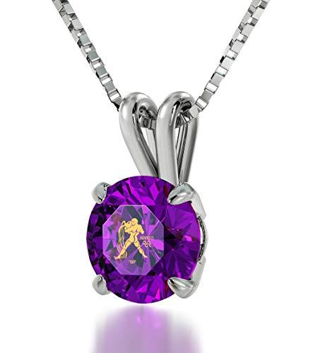 Nano Jewelry Sterling Silver Zodiac Pendant Aquarius Necklace