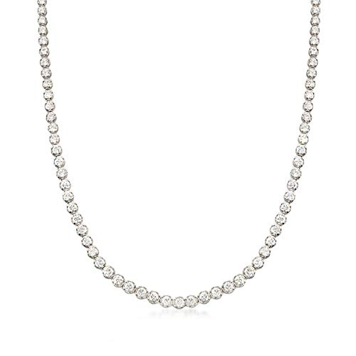 Ross-Simons 10.00 ct. t.w. CZ Tennis Necklace in Sterling Silver