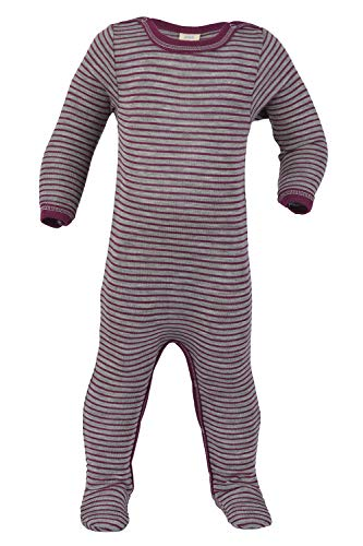 Footed Sleep and Play: Organic Wool Silk Footie Sleeper Pajamas