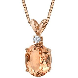 14 Karat Rose Gold Oval Shape 2.50 Carats Morganite