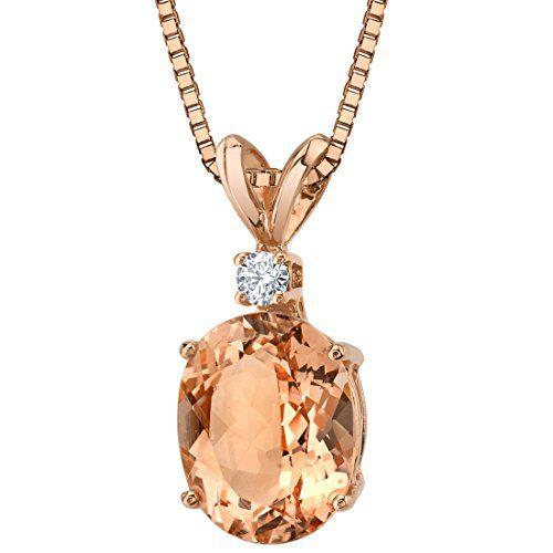 14 Karat Rose Gold Oval Shape 2.50 Carats Morganite