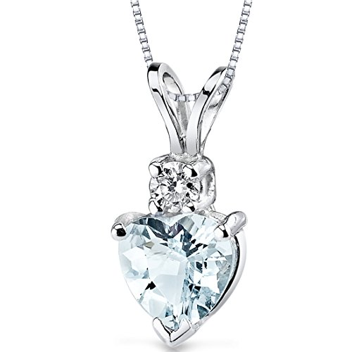 14 Karat White Gold Heart Shape 0.75 Carats Aquamarine