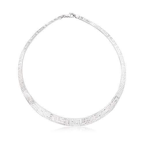 Ross-Simons Italian Sterling Silver Greek Key Cleopatra Necklace