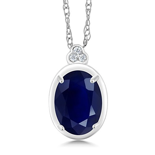 Gem Stone King 10K White Gold Diamond Accent Pendant