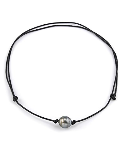 THE PEARL SOURCE 10-11mm Baroque Genuine Black Tahitian South Sea