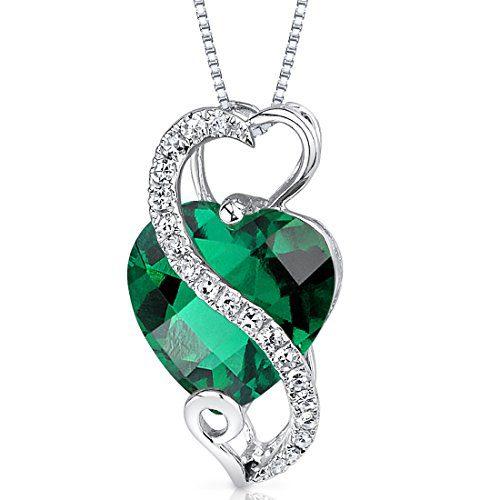 14 Karat White Gold Heart Shape 2.5 carats Created