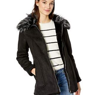 Jessica Simpson Women's Faux Shearling Fashion Coat