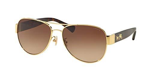 Coach Womens Sunglasses Tortoise/Brown Metal - Non-Polarized - 58mm