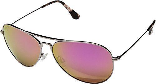 Maui Jim Mavericks   Polarized Rose Gold Aviator Frame Sunglasses