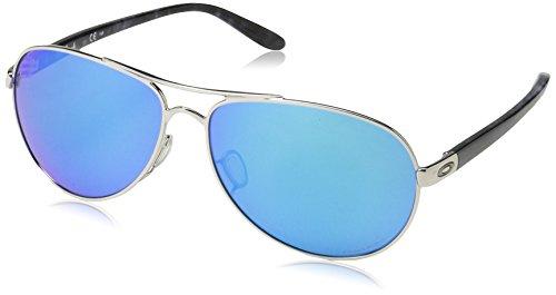 Oakley Women's Feedback Aviator Metal Sunglasses