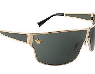 Versace Man Sunglasses, Gold Lenses Metal Frame