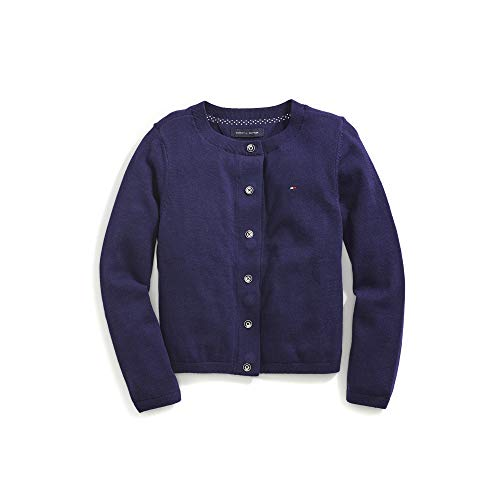 Tommy Hilfiger Girls' Adaptive Cardigan with Magnetic Buttons