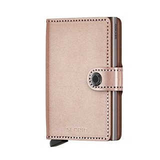 Secrid Miniwallet Metallic Rose Leather Wallet