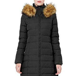Orolay Women's Thickened Down Jacket Winter Coat (XL, Black)