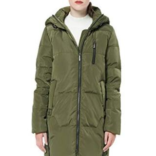 Orolay Women's Stylish Thickened Down Jacket Hooded Coat ArmyGreen XL