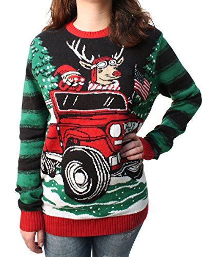 Ugly Christmas Sweater Plus Size Women's How We Roll Reindeer