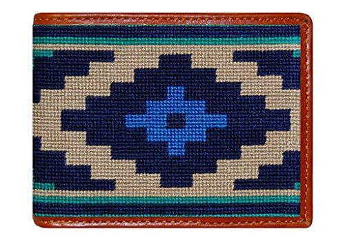 Gaucho Needlepoint Wallet in Dark Khaki by Smathers & Branson