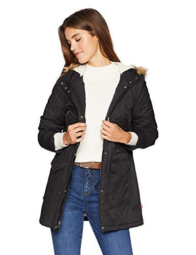 Levi's Women's Performance Sherpa Lined Midlength Parka Jacket, black, X-Large