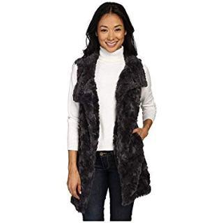 Dylan by True Grit Women's Plush Faux Classic Silky Fur Long Snap