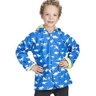 Hatley Boys' Little Printed Raincoats, Color Changing Dinosaur Menagerie