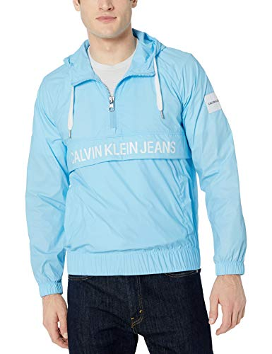 Calvin Klein Men's Monogram Logo Wind Breaker