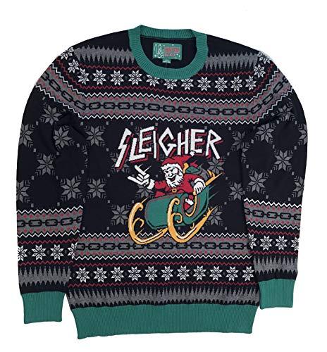 Ugly Christmas Sweater Unisex Xmas Metal Sleigher Santa