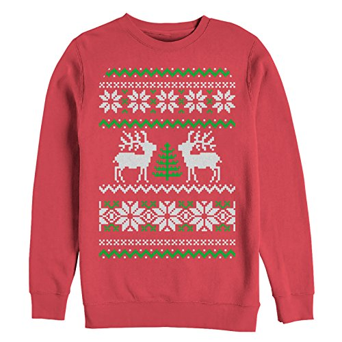 Women's Reindeer Tree Ugly Christmas Sweater Print