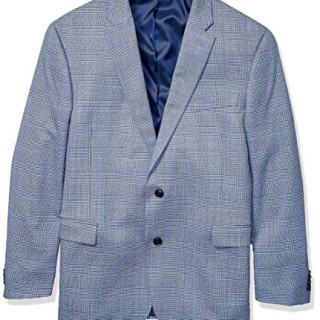 Tommy Hilfiger Men's Classic Blazer, Blue British Plaid