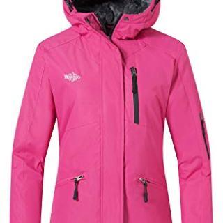 Wantdo Women's Snow Jacket Waterproof Coat Camping Hoodie
