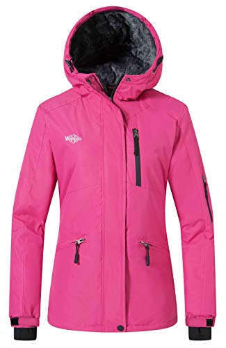 Wantdo Women's Snow Jacket Waterproof Coat Camping Hoodie